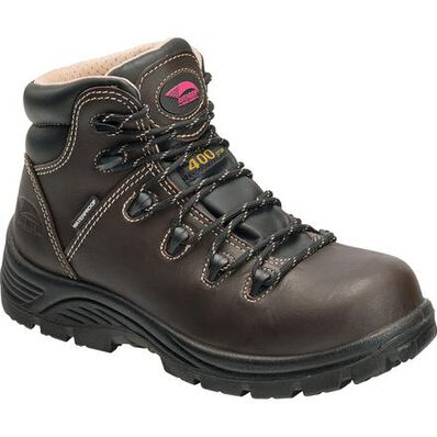 Avenger Framer Women's 5 inch Composite Toe Puncture Resistant 400G Insulated Waterproof Work Boot, , large