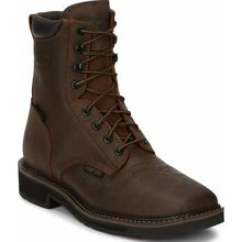 Justin Work Stampede Men's Composite Toe Waterproof Western Work Boot
