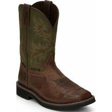 Justin Original Workboots Stampede Men's Internal Metatarsal Steel Toe Waterproof Western Work Boot