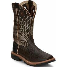 Justin Work Hybred® Derrickman Croc Print Men's Composite Toe Electrical Hazard Pull-on Western Work Boots