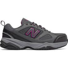 New Balance 627v2 Women's Steel Toe Slip Resistant Static Dissipative Leather Athletic Work Shoe