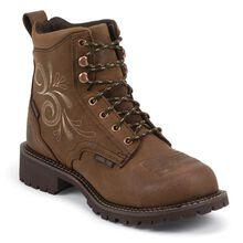 Bota de trabajo impermeable bota con punta de acero Justin Work para mujeres