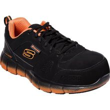 SKECHERS Work Telfin-Saket Men's Alloy Toe Static-Dissipative Slip-Resistant Athletic Work Shoe