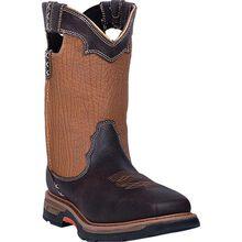 Dan Post Scoop Men's 11-inch Composite Toe Electrical Hazard Waterproof Western Work Pull-On Boot