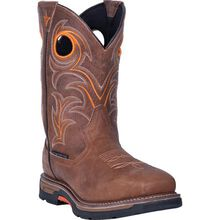 Dan Post Storms Eye Men's 11-inch Composite Toe Electrical Hazard Waterproof Western Work Pull-On Boot