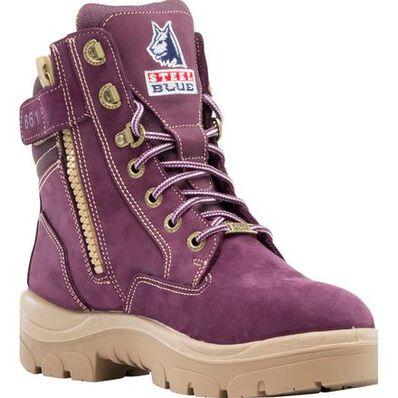Steel Blue Southern Cross Zip PR Women's Steel Toe Electrical Hazard Puncture-Resisting Work Boot, , large