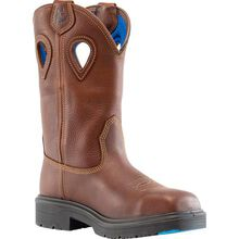 Steel Blue - Blue Heeler Men's Steel Toe Electrical Hazard Waterproof Pull-On Western Work Boot