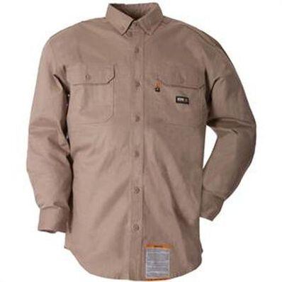 Camisa abotonada de trabajo Berne FR caqui, , large