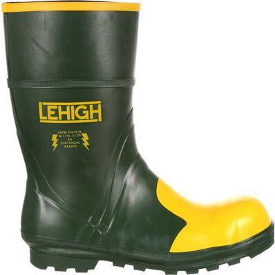 Bota de trabajo Lehigh Unisex con punta de acero y goma Hydroshock impermeable Lehigh Unisex Steel Toe Rubber Hydroshock Waterproof Work Boot, , large