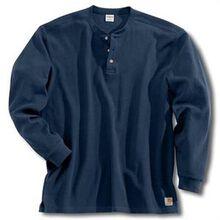 Azul marino de Carhartt texturada tejida con cuello tunecino