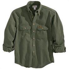 Camisa de sarga arenisca musgo Carhart