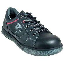 Calzado negro con punta de acero LoCut con desipativo estático FootGuard Freestyle