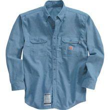 Carhartt llama / fuego camisa de Chambray resistente