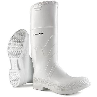 Dunlop White PVC 15 inch Steel Toe Waterproof Work Boot, , large