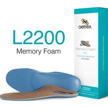 Aetrex Women's Memory Foam Medium/High Arch Orthotic