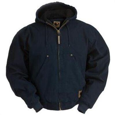 Chaqueta con capucha lavada con forro de vellón original color negro medianoche Berne, , large