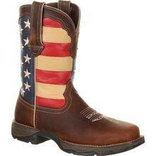 Lady Rebel Work™ by Durango® Steel Toe Patriotic Flag Work Boot