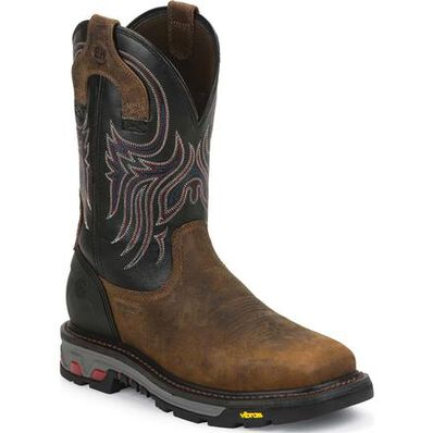 Justin Work Commander-X5™ Tanker Steel Toe Pull-On Work Boot, , large