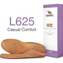 Aetrex Women's Casual Comfort Flat/Low Arch Posted with Metatarsal Support Orthotic