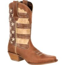 Crush™ by Durango® Women's Distressed Flag Boot