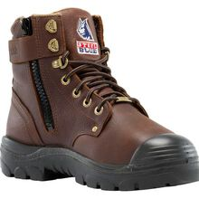 Steel Blue Argyle Zip Bump Steel Toe Internal Metatarsal Puncture-Resisting Zipper Work Boot