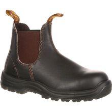 Zapato de trabajo Blundstone con punta de acero elásticos laterales sin cordones