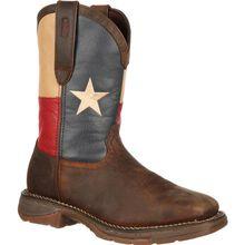Bota vaquera de bandera de Texas con punta de acero Rebel by Durango