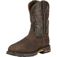 Ariat WorkHog Men's 11 inch Composite Toe Internal Met-Guard Waterproof Western Work Boot, , medium