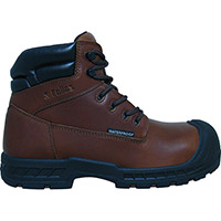 S Fellas by Genuine Grip Vulcan Men's 6 inch Composite Toe Puncture Resistant Waterproof Brown Leather Work Hiker, , medium