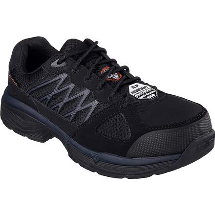SKECHERS Work Relaxed Fit Conroe Searcy ESD Alloy Toe Static Dissipative Work Athletic Shoe