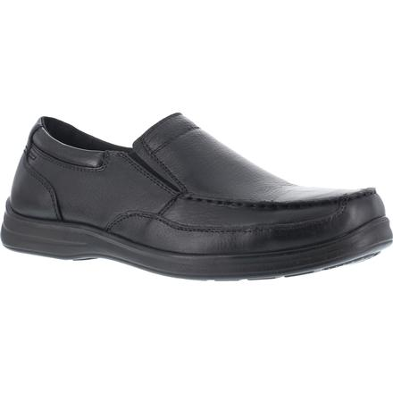 Florsheim Work Wily Steel Toe Static-Dissipative Work Slip-On Moc Toe Shoe