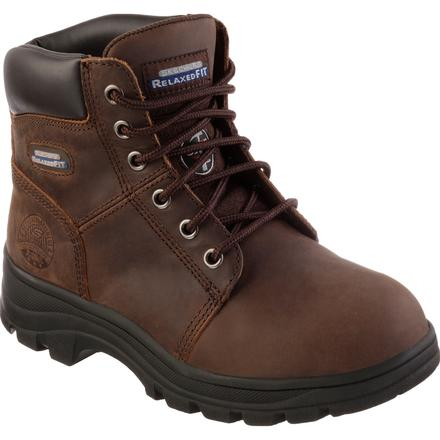Skechers Work Workshire-Peril Women's 6 inch Steel Toe Electrical Hazard Work Boot