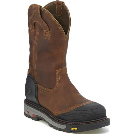 Justin Original Workboots Warhawk Men's 11 inch Composite Toe Electrical Hazard Waterproof Pull-on Work Boot