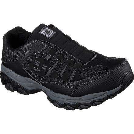 SKECHERS Work Cankton Steel Toe Electrical Hazard Athletic Slip-On Work Shoe