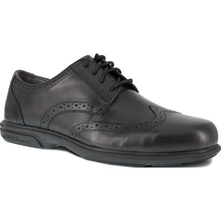 Florsheim Work Loedin Men's Steel Toe Static-Dissipative Black Dress Wingtip Oxford