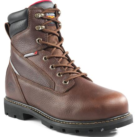 Dickies Trueland Men's 8 Inch Steel Toe Electrical Hazard Waterproof Leather Work Boot